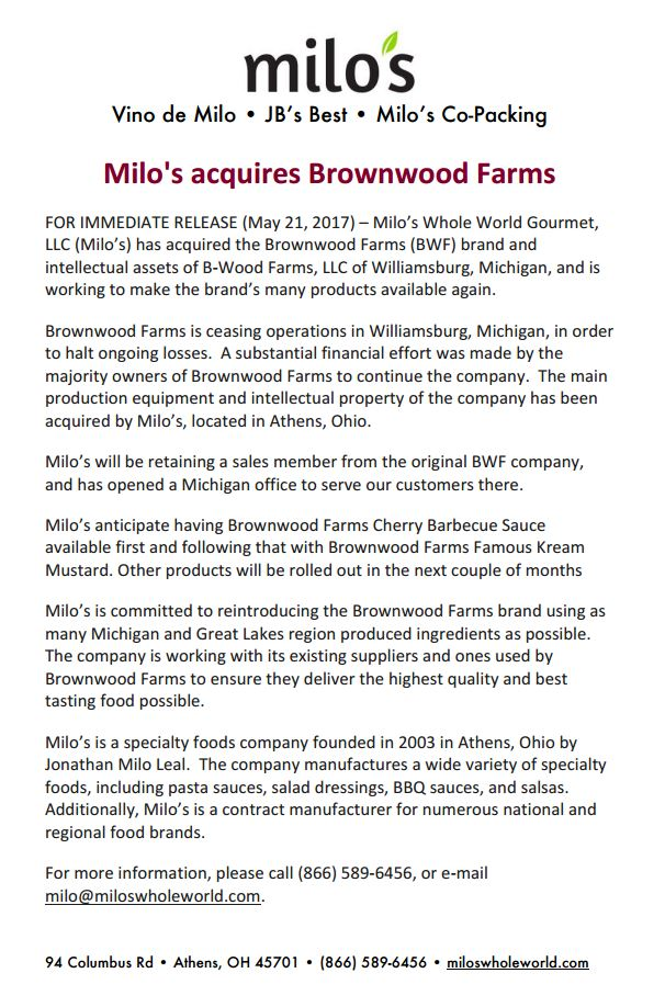 Featured Tenant: Milo's Whole World Gourmet