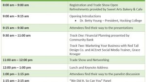 Women in Business Conference Agenda