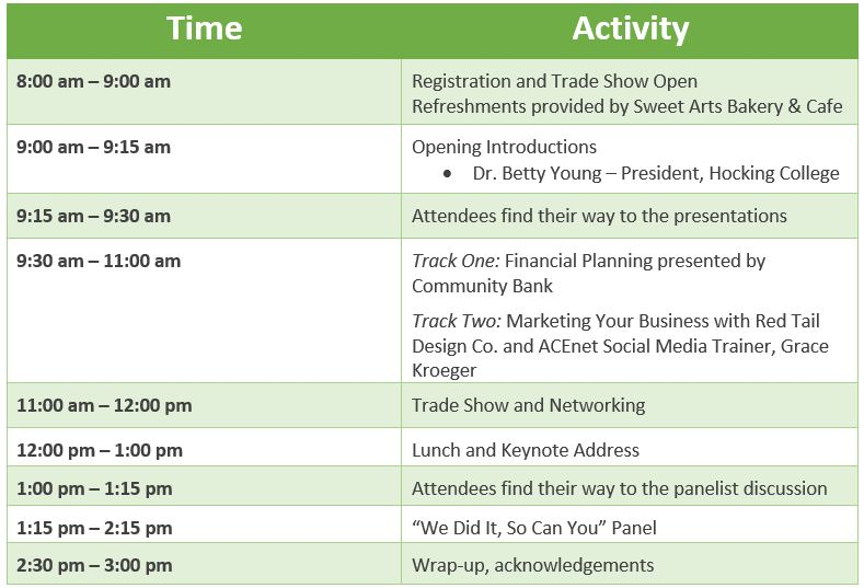 Women In Business Conference Agenda  Acenet