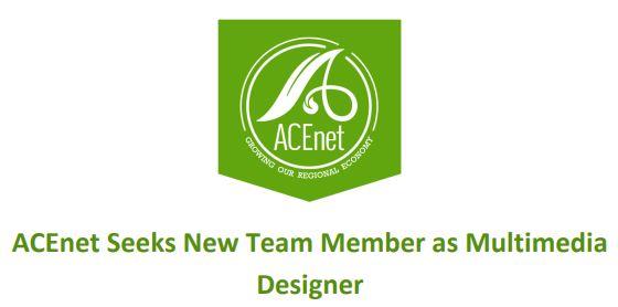ACEnet Seeks New Team Member as Multimedia Designer