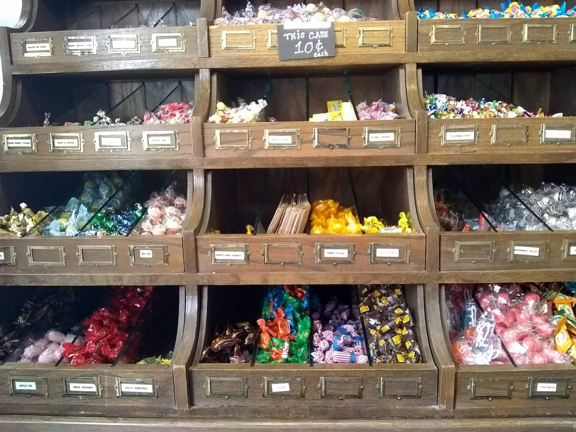 Feeling like a kid in a candy store is easy when you're in a candy store and haven't grown up.