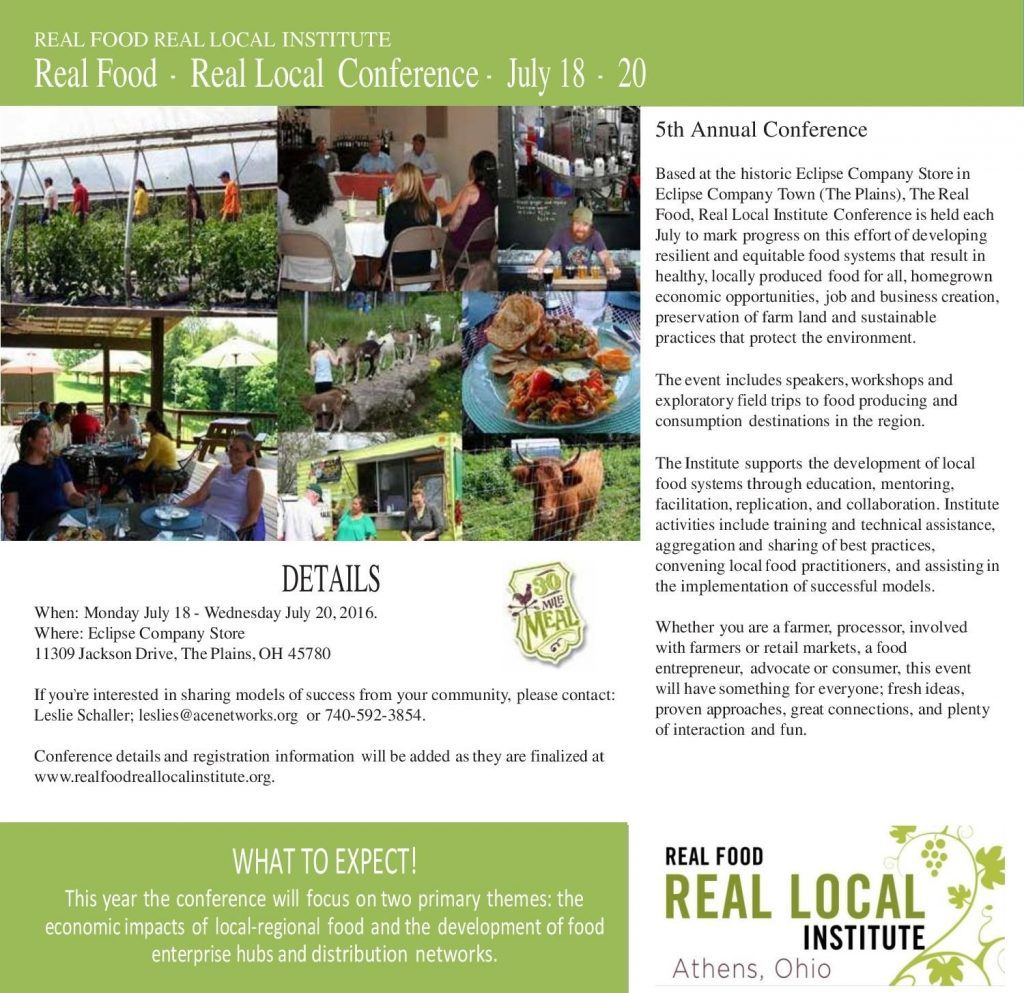 5th Annual Real Food Real Local Conference